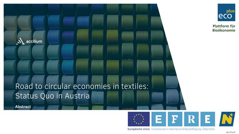 Abstract Road to circular economies in textiles status quo in Austria
